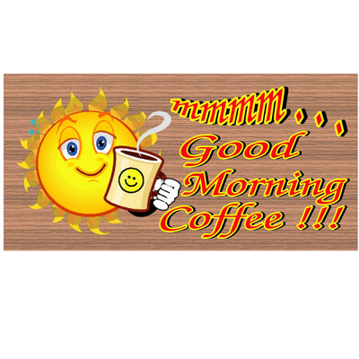Coffee Wood Signs - Good Morning Coffee GS 1369 Wood Plaque