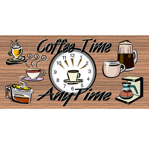 Wood Signs - Coffee Time AnyTime GS 561 Wood Plaque
