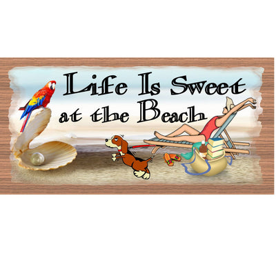 Beach Wood Signs - GS 685- Tropical Plaque