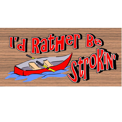 Canoe Wood Signs -GS 576 Wood Plaque