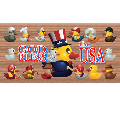 Patriotic Wood Signs - God Bless the USA- GS 869 Patriotic Plaque
