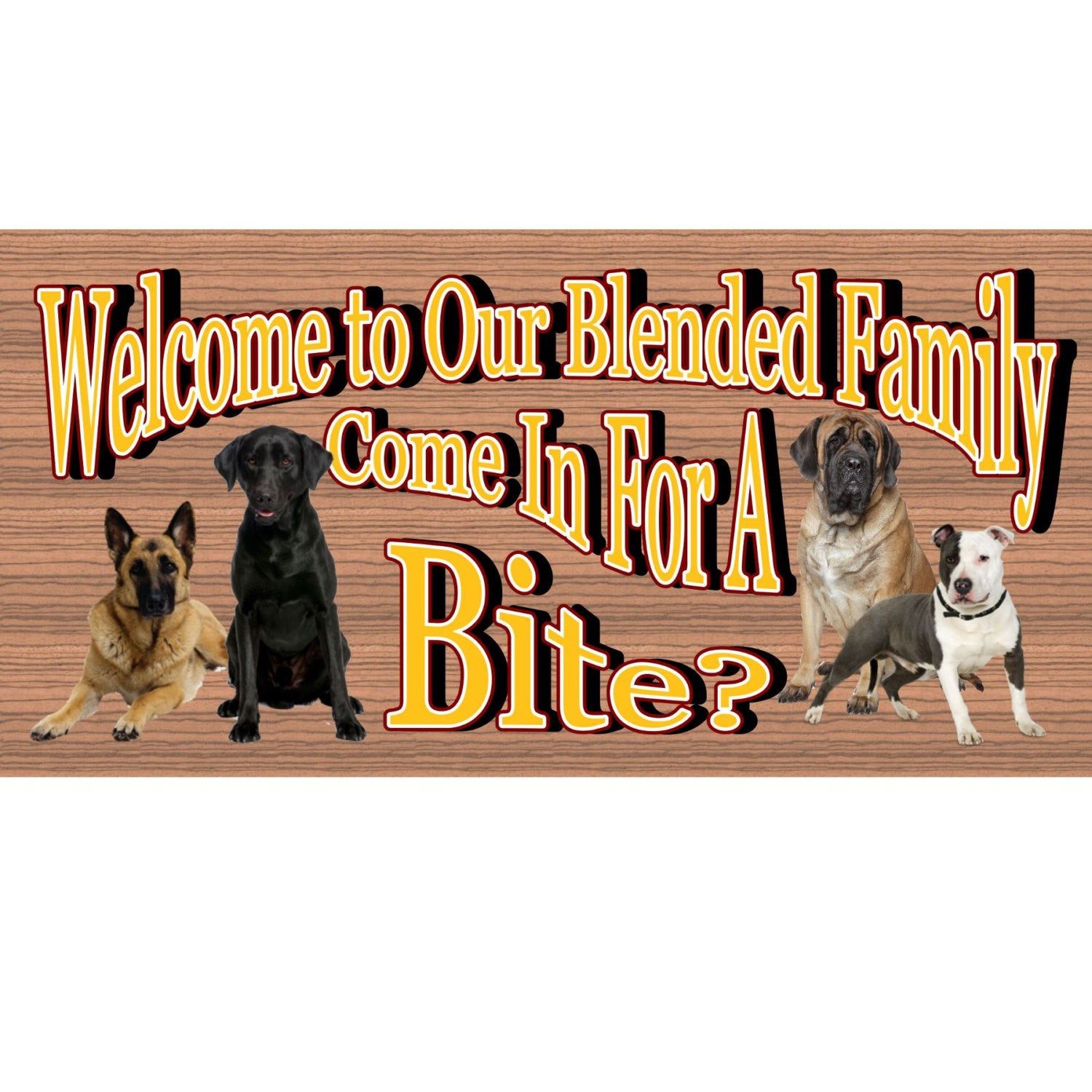 Dog Wood Signs -Dog Sign - Wooden Dog Plaque GS885