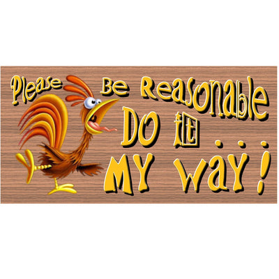 Humor Wood Signs - GS 886 - Humor Plaque