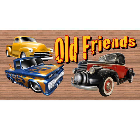 Wood Signs -Old Friends plaque GS1401 Wood Signs with Sayings