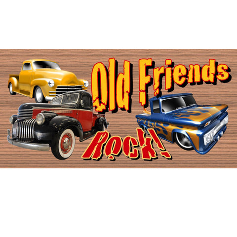 Wood Signs -Old Friends Rock plaque GS1402 -Wood Signs with Sayings