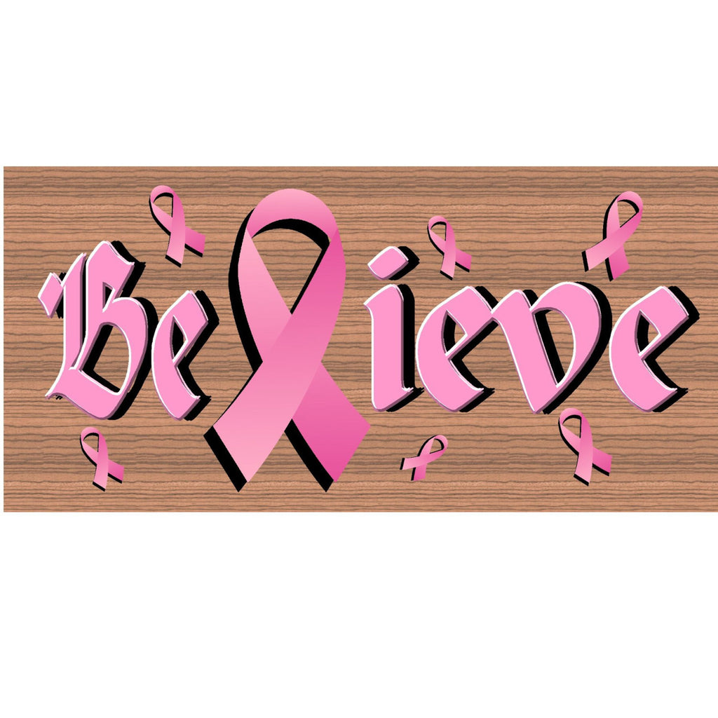 Wood Signs - Handmade wood sign Breast Cancer - GS1511 - Primitive Handmade wood sign Breast Cancer - Breast Cancer plaque