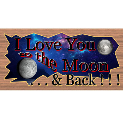Romantic Wood Signs -I Love You to the Moon and Back - GS 1494- Romantic Plaque