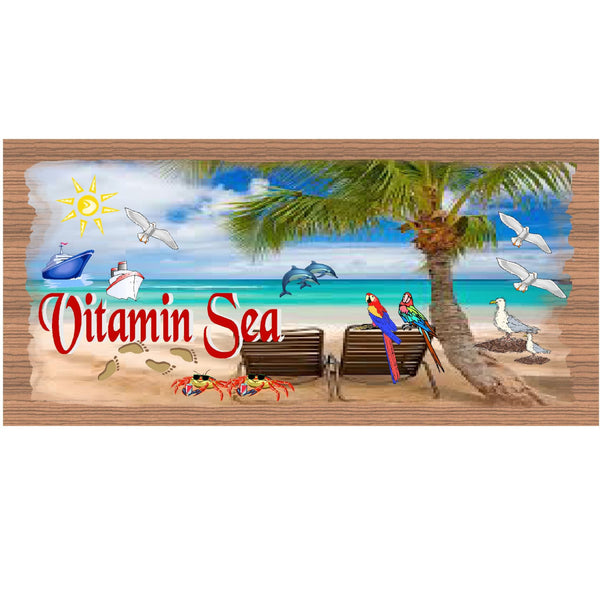 Wood Signs - Handmade Wood Plaque Tropical - GS1587 -Primitive Handmade wood Plaque Tropical, Beach Decor wood sign, Tropical wood plaque