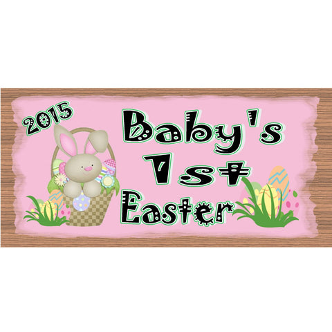 Wood Signs - Baby's 1st Easter GS 1702 GiggleSticks Wood Plaque
