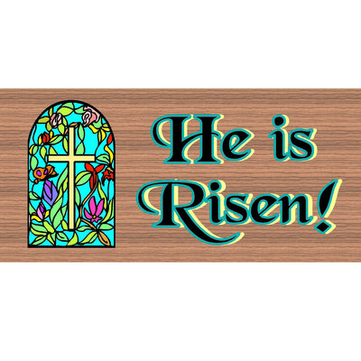 Spiritual  Wood Signs - He is Risen- GS 1705 - Spiritual Plaque-Easter
