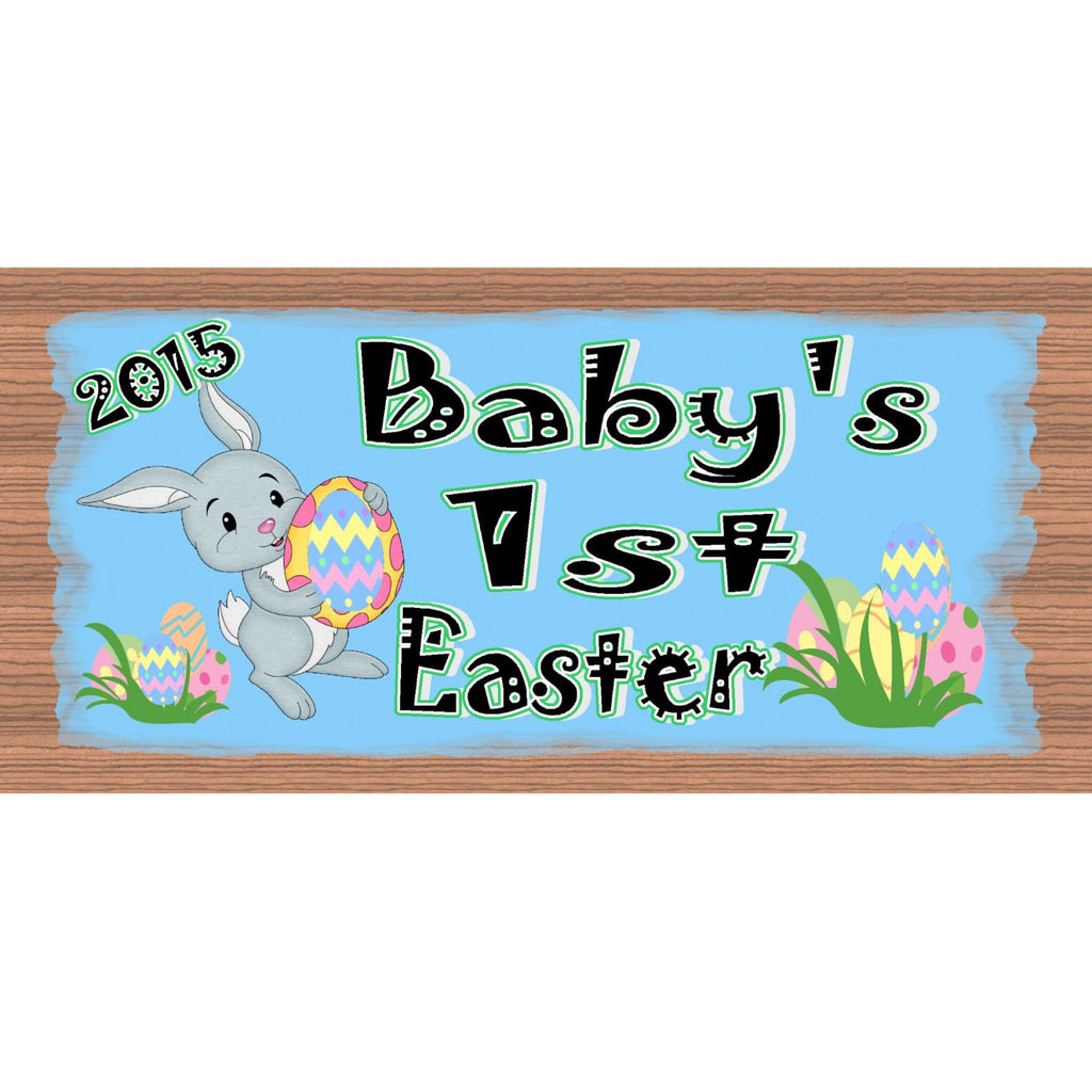 Wood Signs - Baby's 1st Easter - Baby wood plaque - Wooden Baby sign