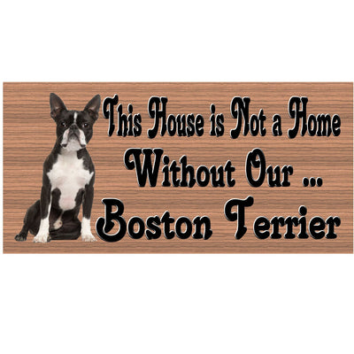 Boston Terrier Wood Signs - Boston Terrier GS 453- Dog Sign