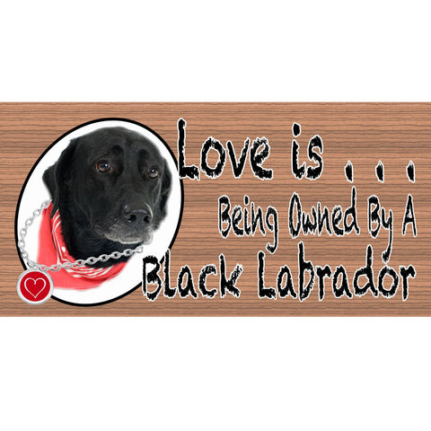 Black Lab Sign -Black Lab Plaque GS 401