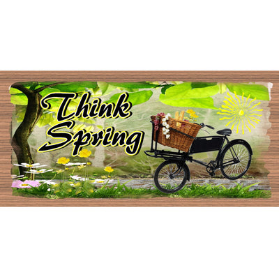 Spring Wood Signs -GS 1718- Spring Plaque