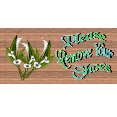 Shoe Wood Signs -Please Remove Your Shoes  -GS 1725-Shoe Plaque