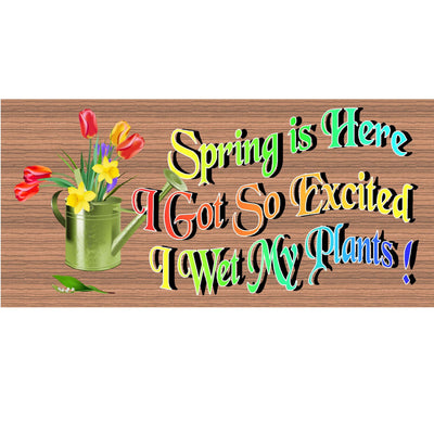 Spring Wood Signs - GS 1729 -Spring Plaque