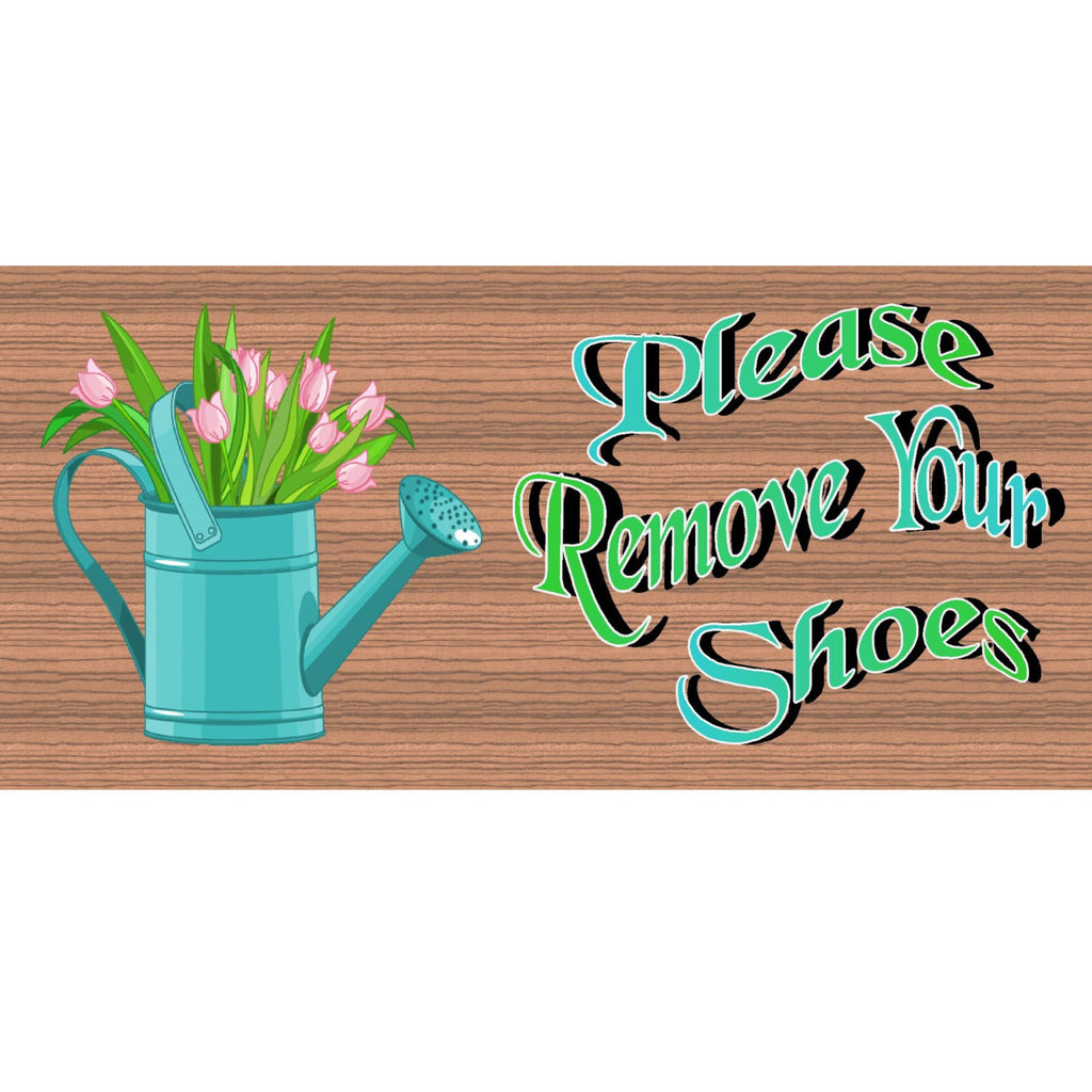 Wood Signs - Handmade Wood Sign Please Remove Your Shoes plaque -GS1727- Wood Plaque, Shoe sign - Remove your Shoes sign