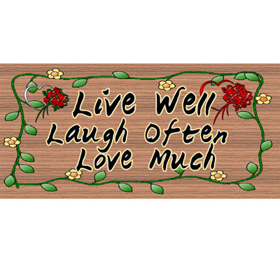 Live Love Laugh Wood Signs  GS 1726-Family Sign