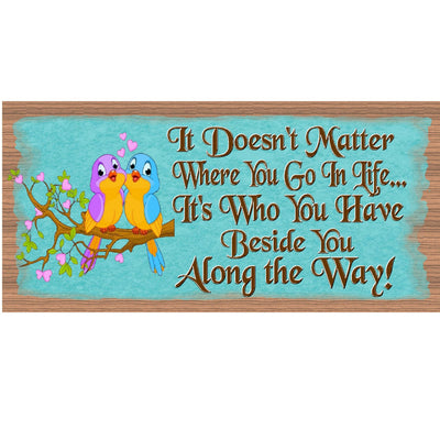 Romantic Wood Signs -It Doesn't Matter - GS 1733-Romantic Plaque