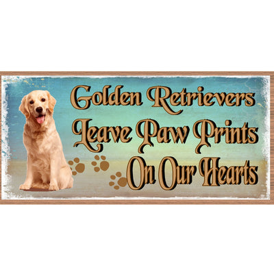 Golden Retreiver Wood Signs - Golden Retreiver Plaque GS 1757