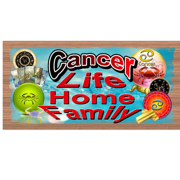 Wood Signs - Cancer Zodiac GS1640 GiggleSticks Wood Plaque