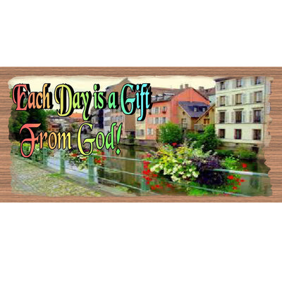 God Wood Signs - Each Day is a Gift From God GS1760 GiggleSticks Wood Plaque