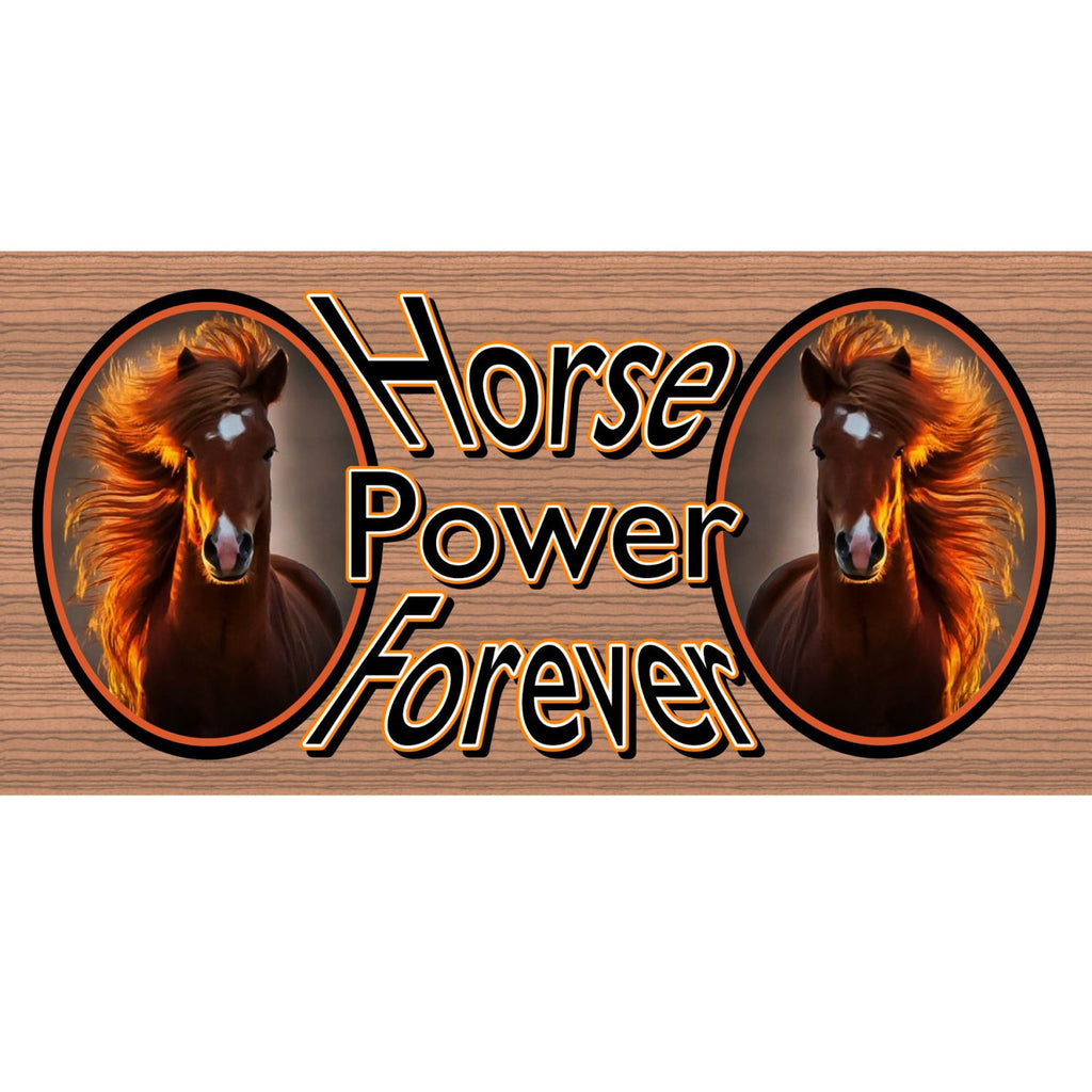 Wood Signs - Horse Power GS1652 GiggleSticks Wood Grain