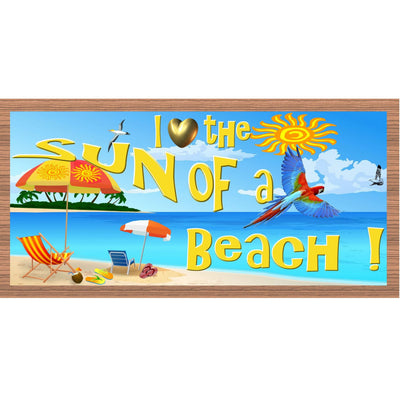 Beach Wood Signs - I Love the Sun of a Beach GS 1672 - Tropical Wood Plaque