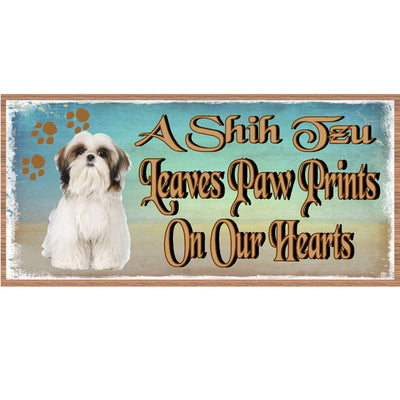 Shih Tzu Wood Signs - - GS 1776- Shih Tzu Plaque -Dog Sign