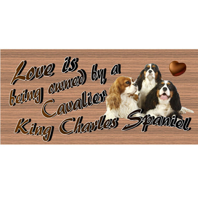 Cavalier King Charles Wood Signs - Cavalier King Charles Spaniels Plaque - GS 1777- Dog Sign