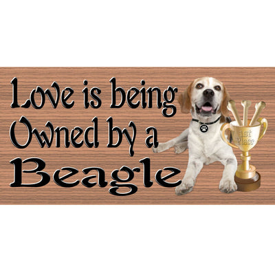 Beagle Wood Signs Love is Being Owned by a Beagle GS 1814-Dog Sign