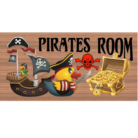 "Wood Signs -Pirates Room GS1836 "" Primitive Wood Sign"