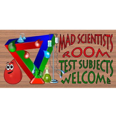 Scientist Wood Signs -Mad Scientists Room- GS1838 - Scientist Plaque