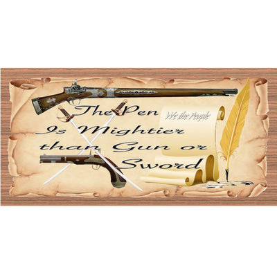 Writer Wood Signs -The Pen is Mightier Than Gun or Sword- GS 1856-Writer Plaque