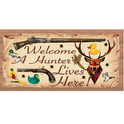 Hunter Wood Signs -Welcome A Hunter Lives Here GS1857