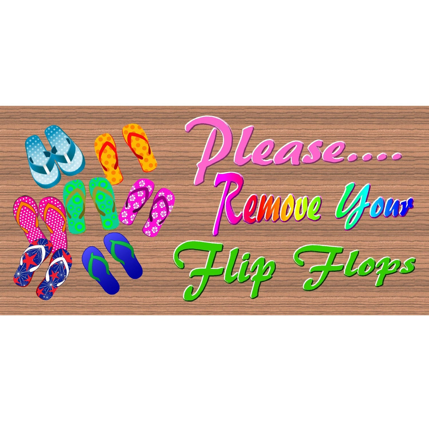 Flip flop Wood Signs - GS 1795 - Flip Flop Plaque