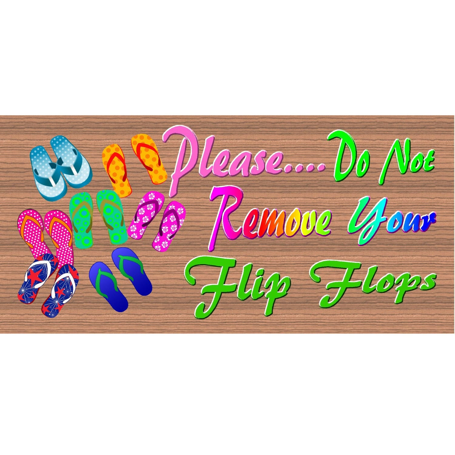Flip Flop Wood Signs-GS 1796  - Flip Flop Plaque