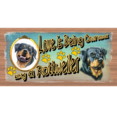 Rottweiler Wood signs - GS 1888 Wood Plaque-Dog Signs