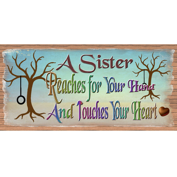 Wood Signs -Handmade Wood Sign Sister GS1910 Handmade Wood Plaque Sister - Sister Sign
