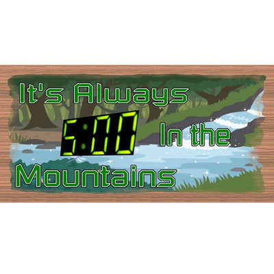 Mountain Wood Signs -GS 2032 -Mountain Plaque