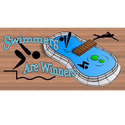 Swimmer Wood Signs --GS 2023 -Swimming Plaque