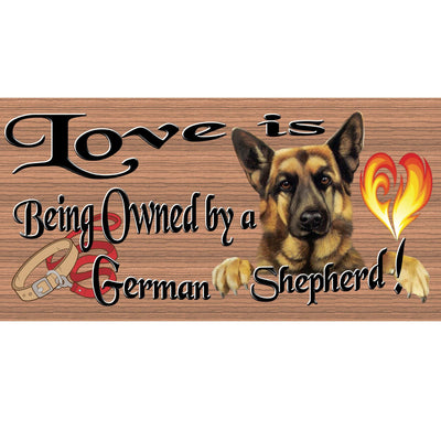German Shepherd Wood Signs  German Shepherd Plaque - GS1894-Dog Signs