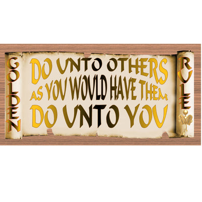 Golden Rules Wood Signs - Do Unto Others- GS1897- Golden Rules Plaque