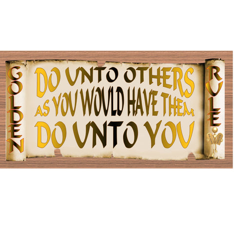 Wood Signs - Handmade Wood sign, Golden Rules sign , Do Unto Others GS1897 Gigglesticks Wood plaque
