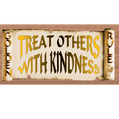 Golden Rules Wood Signs - Treat Others with Kindness GS 1899