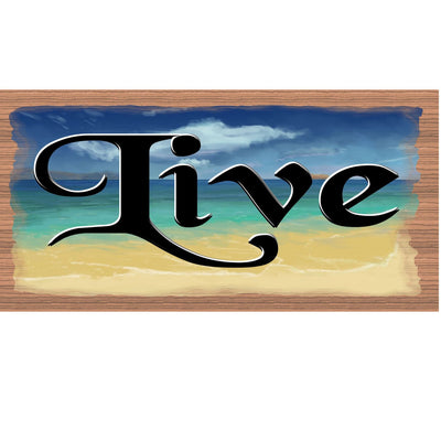Live Wood Sign - GS 2036- Live Plaque