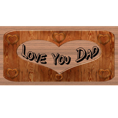 Dad Wood Signs - Love You Dad - GS 2072 - Dad Plaque