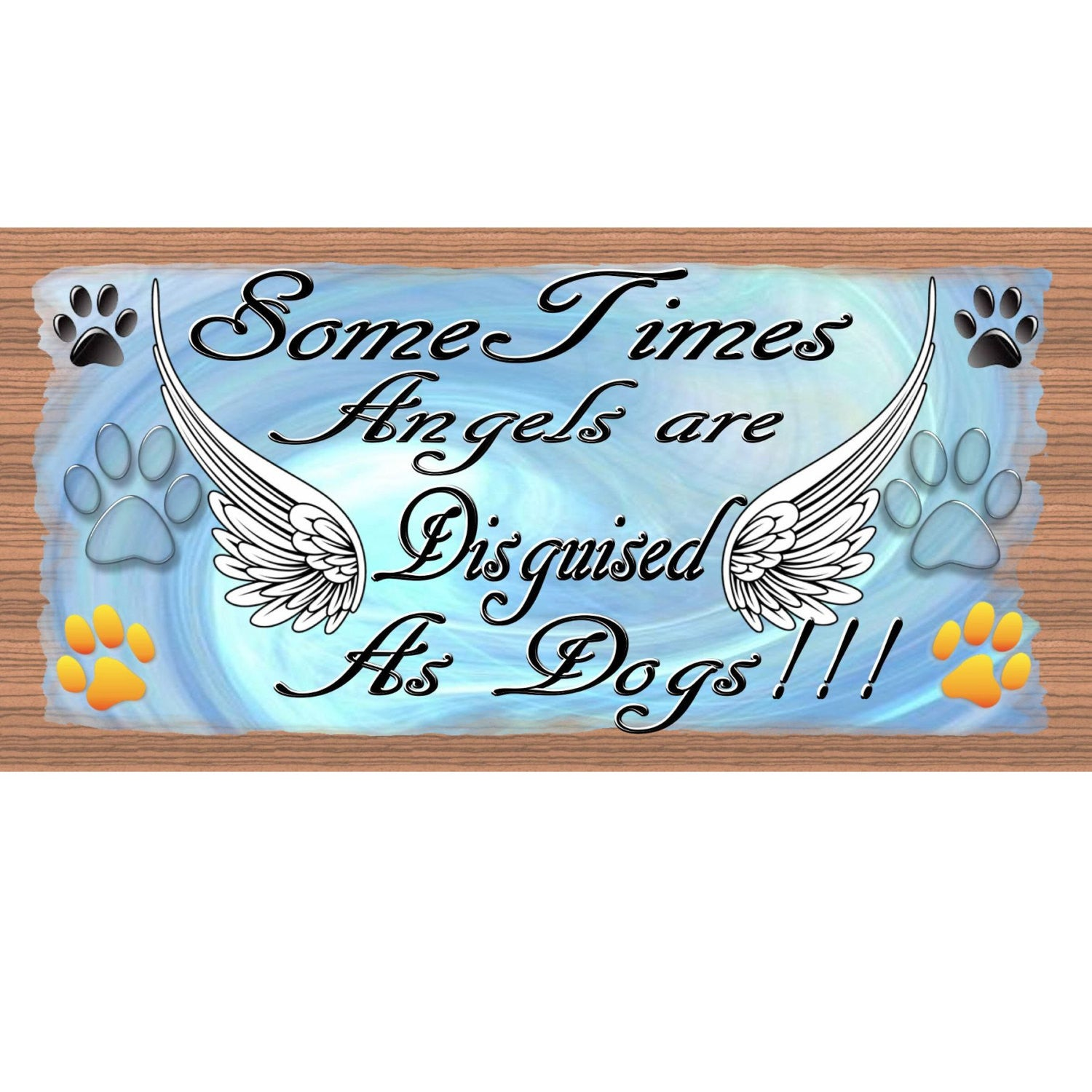 Dog Wood Signs Dogs GS 2068 Wooden Signs Dogs - Dog plaque -Dog Sign