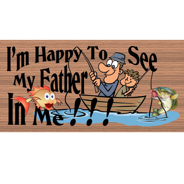 Wood Signs - Handmade Wood Sign Dad - GS2107 - Primitive Handmade Wood sign Dad - Fishing wood sign - Dad Wood Plaque - Fishing plaque