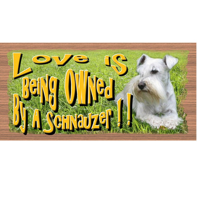 Schnauzer Wood Signs - Love is Being Owned by a Schnauzer GS 2092 -Dog Sign